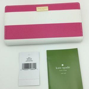 Kate Spade Wallet Eden Street Stacy Pink Radish